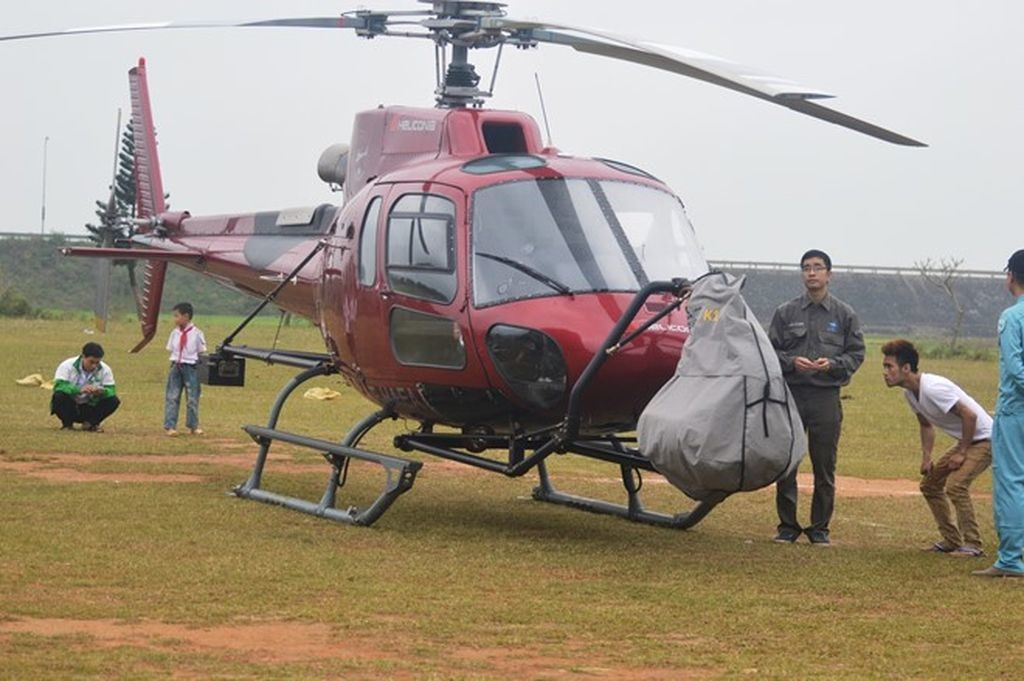 The helicopter to use for filming